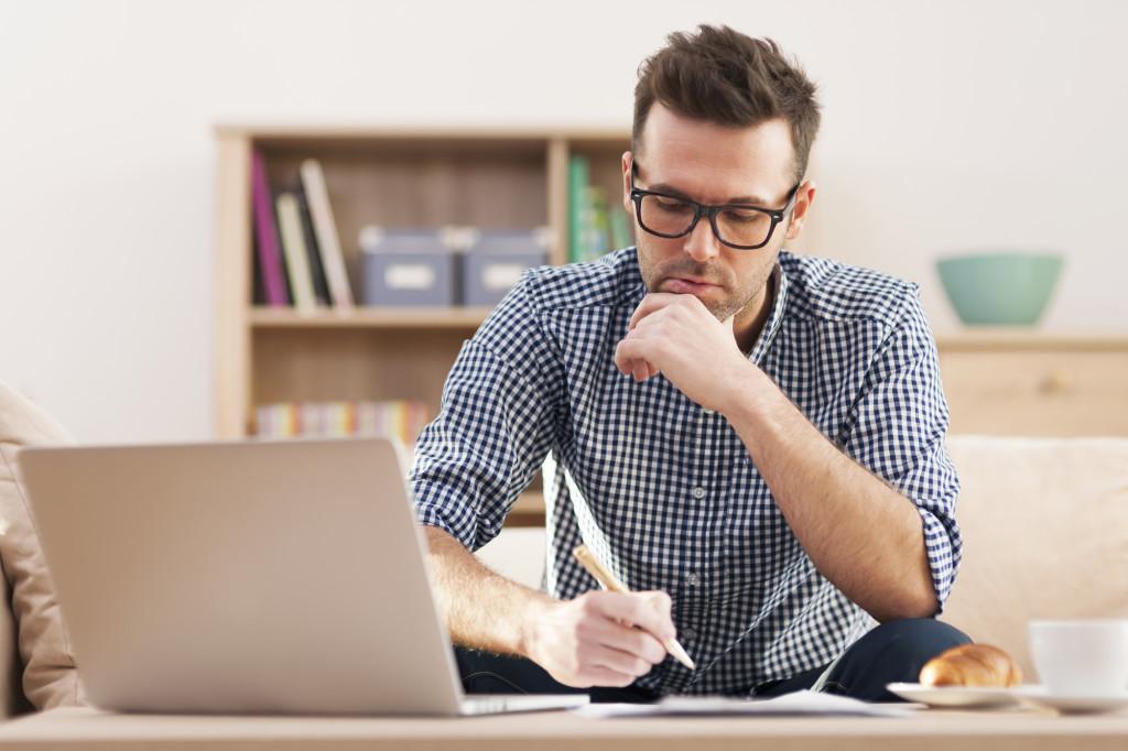 morning routine, man journalling, man writing in journal, gratitude journal, five minute journal