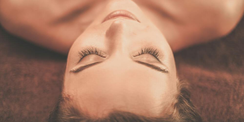 sensual massage, relaxed woman