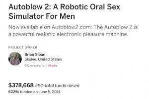 Man using autoblow 2